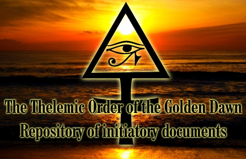 Icon - link to Thelemic Order of the Golden Dawn initiation Materials at Priory of Nuit Website