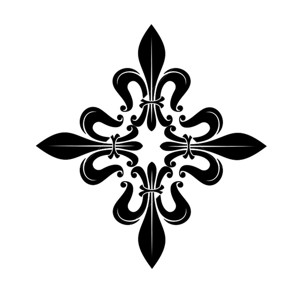 Smaller Fleur de Lis Cross