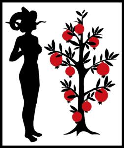 Asherah-Astarte Logo - Astarte and Asherah Tree with Pomegranates