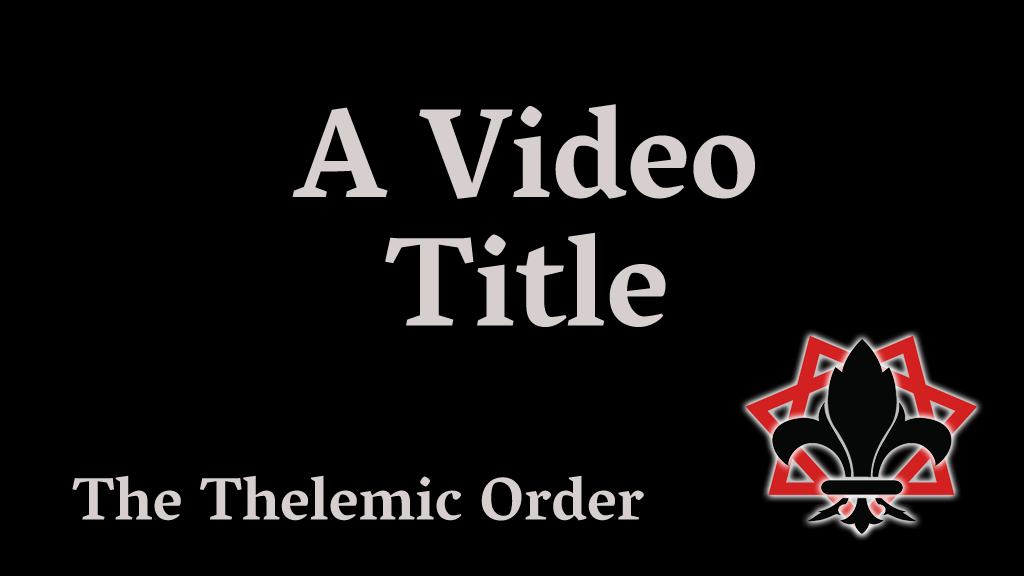 Video Title Card Dummy